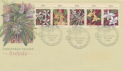 1994 Christmas Island Orchids First Day Cover