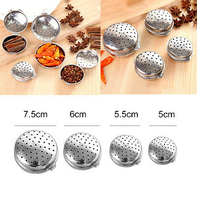 Round-shaped Stainless Steel Tea Infuser Loose Leaf Strainer Filter Herb Steeper