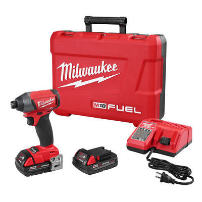 "Milwaukee M18 FUEL 18V Li-Ion 1/4"" Hex Impact Driver Kit w/ CP 2753-22CT New"