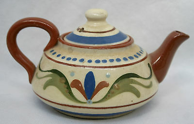 Devon Torquay Pottery Longpark Scandy  Motto Ware Tea Pot Take a cup of tea