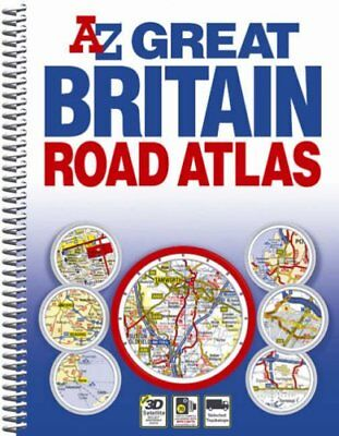 Great Britain Spiral Road Atlas by Geographers' A-Z Map Company Spiral bound The