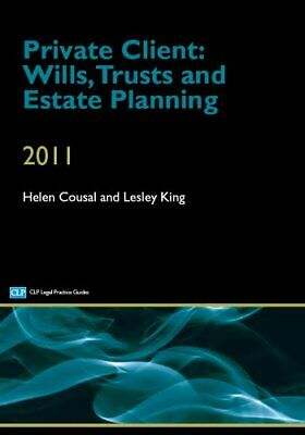 Private Client: Wills, Trusts and Estate Planning by King Paperback Book The