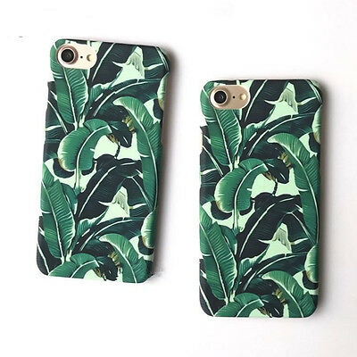 Green Leaf Cover Ultra Thin Hard PC Phone Cases For iphone X  5 5S 6 6S 7 8 Plus