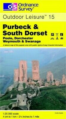 Purbeck and South Dorset (Outdoor Leisur... by Ordnance Survey Sheet map, folded