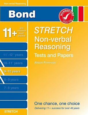 Bond Stretch Non-Verbal Reasoning Tests and Papers 9-10 years, Karen Morrison