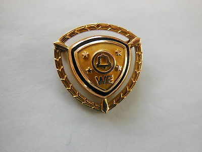 VINTAGE WESTERN ELECTRIC Bell Labs RARE 4 STAR AWARD PIN 10K GOLD FILLED
