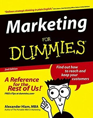 Marketing For Dummies (US Edition) by Hiam, Alexander Paperback Book The Cheap