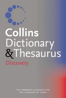 Collins Discovery Dictionary and Thesaurus Paperback Book The Cheap Fast Free