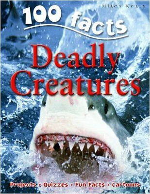 100 Facts Deadly Creatures by Camilla de la Bedoyere Paperback Book The Cheap