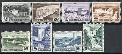 ICELAND MNH 1956 SG335-42 Power Plants and Waterfalls Set