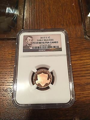 2013-S Lincoln Union Shield Penny NGC MS PF 69 RD UCAM Early Release