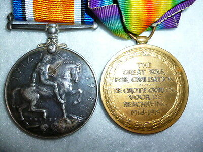 WW1 Bi-lingual Victory Medal Pair to 1st Cape Corps (Coloured / Black Unit)