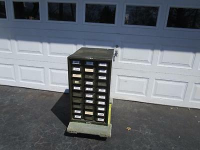 Vintage Addressograph 30 Drawer Metal Storage Cabinet $125.00 ...