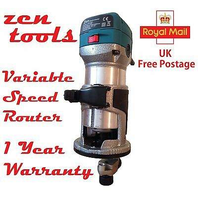 Variable Speed Hand Laminate Wood Trimmer c/w Guide 240V RT0700 ZEN (Not Makita)