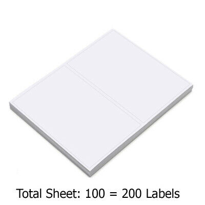 Framed for Easy Removal 20 Self Adhesive Shipping Mailing Labels 2//8.5x11 Sheet