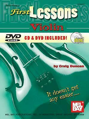 First Lessons Violin [With CD and DVD] by Craig Duncan (English) Paperback Book