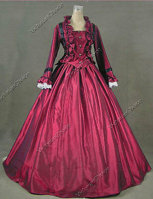 Civil War Victorian 2PC Gown Period Day Dress Reenactment Theater Clothing 170