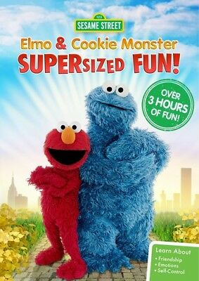 Sesame Street: Elmo And Cookie Monster Supersized Fun [New DVD] Amaray Case