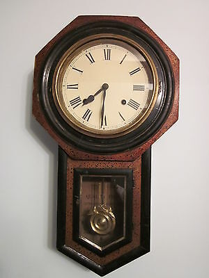Antique miniature school clock, early 1900's. Cleaned and running I202