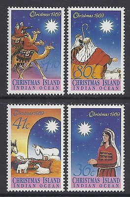 Christmas Island 1989 Christmas Set Of 4 Fine Mint Mnh/muh