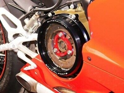 Ducabike Clear Clutch Cover & Spring Retainer Ducati 959 1199 1299 Panigale Blk