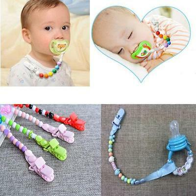 Cute Baby Infant Dummy Pacifier Soother Nipple Cute Shield Chain Clip Holder CB