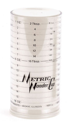 Norpro Adjustable Milmour Wonder 2 Cup Measuring Wet & Dry Conversion Chart 3046