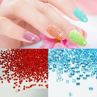 Strass Cristal Déco 3D Tips Ongle Dotting Glitter Perle Nail Art Manucure Bijoux