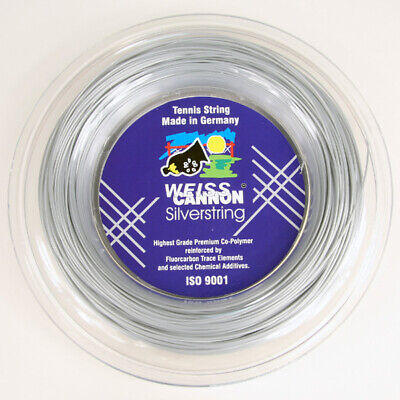 Weiss Cannon Silverstring ( 200m Rolle ) metallic-silber 1,25 mm (0,41 EUR/m)