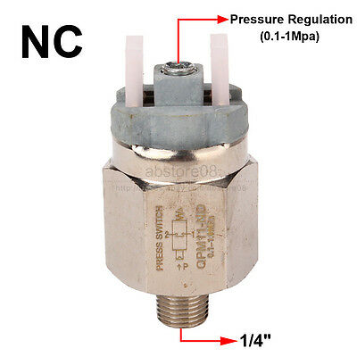 """1/4"""" Adjustable Diaphragm Pressure Controller Switch with Insulation Sleeve NC"""