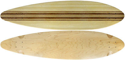"Moose Longboard 9.5"" x 41"" Top-Ply Bamboo Deck With Grit"