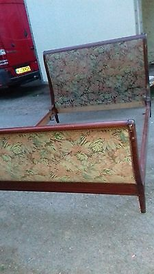 Lovely French Vintage Swan Neck Double Bed From Brest Britanny