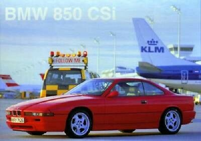 BMW 850 CSI 'Follow Me' /Car Poster Re print/Race/NEW