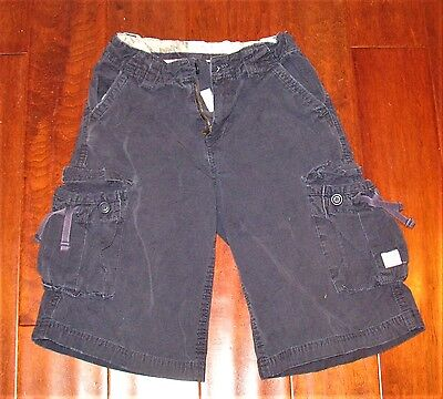 Children's Place Blue Cargo Shorts Adjustable Waist Boys Size 7 GUC