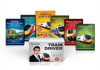 TRAIN DRIVER TESTS Software PLATINUM Package Box Set: Train Driver Book, Intera.