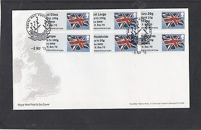 GB 2015 Post & Go Frama ATM Union Flag RMM VE Day 70 FDC Portsmouth pictorial pk