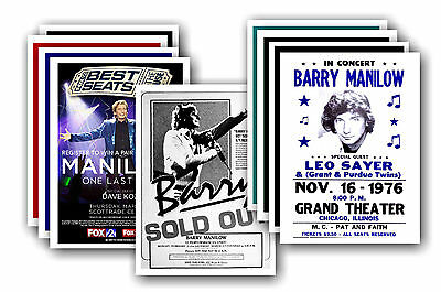 BARRY MANILOW  - 10 promotional posters - collectable postcard set # 1