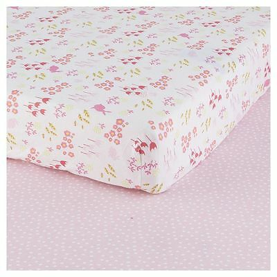 NEW Tesco Bunny Cot Bed Sheets - Pack of 2