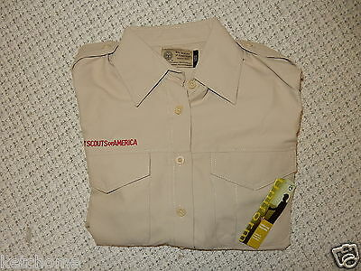 New w Tags Ladies' SMALL Official BSA Uniform LONG SLEEVE Shirt Size Small