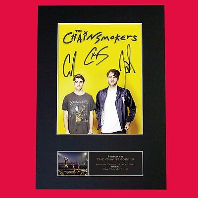 CHAINSMOKERS  Band Signed Autograph Mounted Photo RE-PRINT A4 650