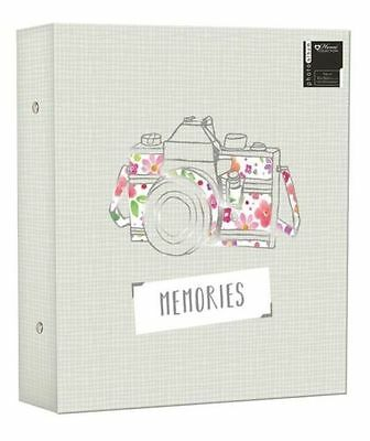 "Large Photo Album Ringbinder Camera Memories Design Holds 500 6"" x 4"" PROD6"