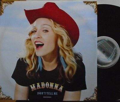 """MADONNA ~ Dont Tell Me ~ 12"""" Single PS"""