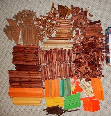 OVER 700 PIECES Vintage LINCOLN LOGS  AMERICAN LOGS 700+ PIECES About 13 1/2 Lbs