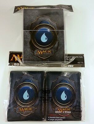 80 Ultra Pro Sleeves + Deckbox Set - Mana 3 Blue MtG Magic Karten Hüllen Deck