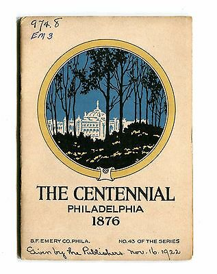 Vintage Advertising Booklet PHILADELPHIA CENTENNIAL EXPO 1876 Ben Emery Printing