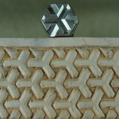 James Linnell - Hex Tri-Weave Geometric Stamp (Leather Stamping Tool)