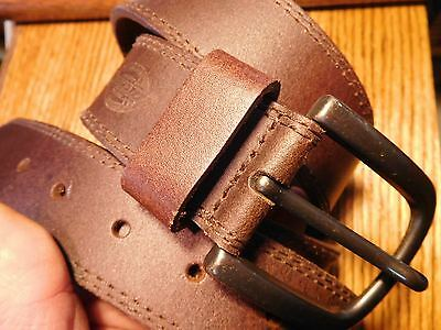 Dickies Brown Leather Work Belt Size 40 Excellent Used Condition Euc