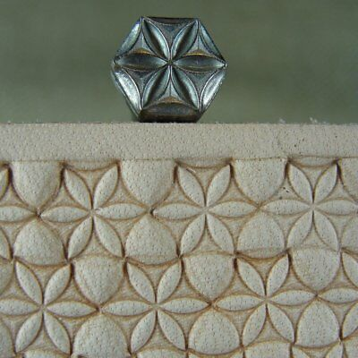 James Linnell - Small Hex Flower Geometric Stamp (Leather Stamping Tool)