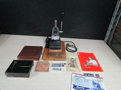 Kingsley Hot Foil Gold Stamping Machine with LOTS of Accessories