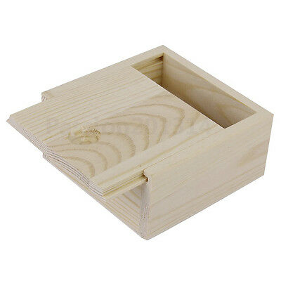 Small Plain Wooden Storage Box Case for Jewellery Small Gadgets Gift Wood